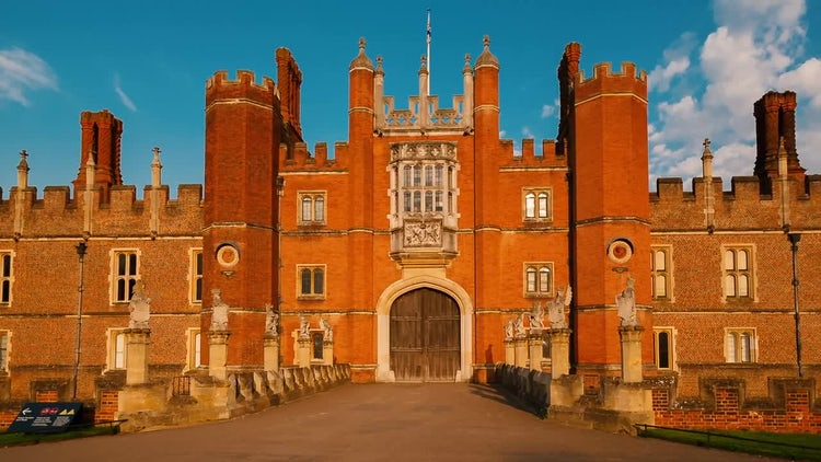 Hampton Court Palace In London: Stock Video