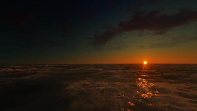 The Sea At Sunset: Stock Motion Graphics