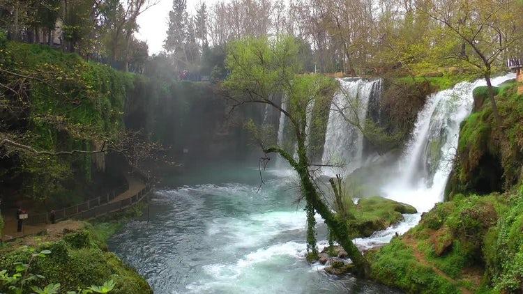 Kursunlu Waterfall In Turkey: Stock Video