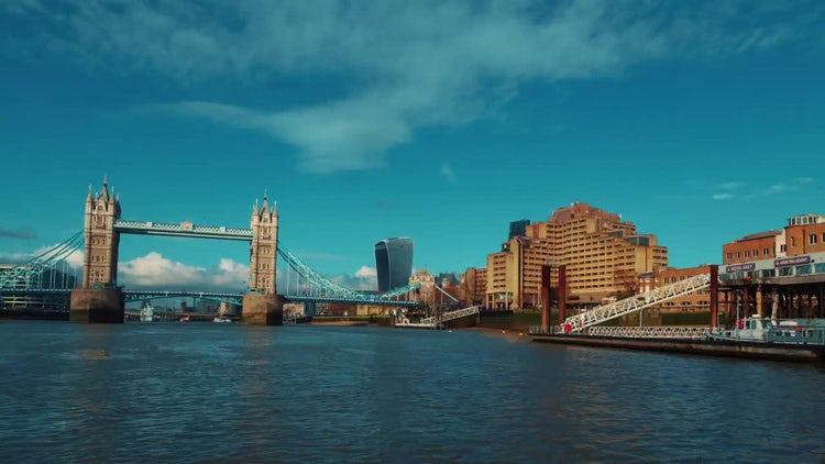 Boat Trip Hyperlapse On the River Thames, London, UK: Stock Video