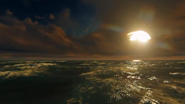 Big Sunset By The Ocean: Stock Motion Graphics