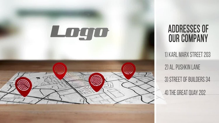 Your Company Addresses 4K: After Effects Templates