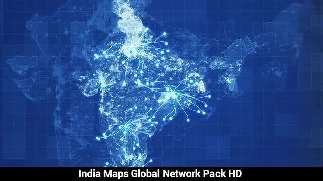 India Maps Network HD Pack: Stock Motion Graphics