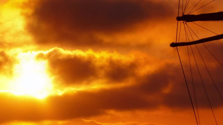 Timelapse Sunset in the Mediterranean: Stock Video