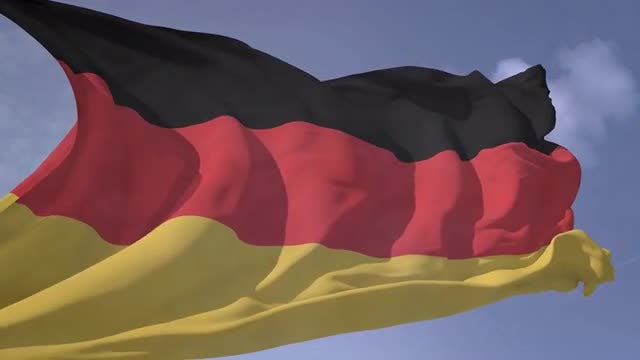 Germany Flag Waving in Slow Motion: Stock Motion Graphics