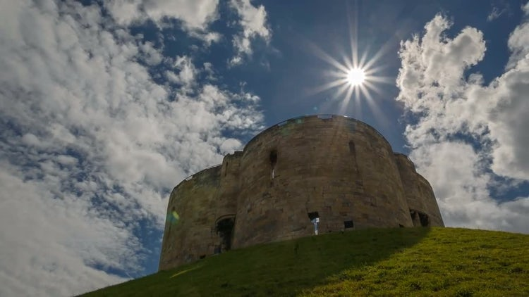 York Castle In Yorkshire, England: Stock Video