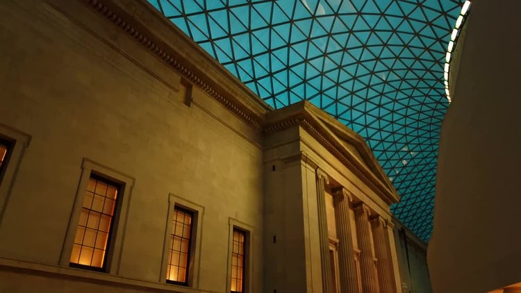 POV Shot Of British Museum : Stock Video