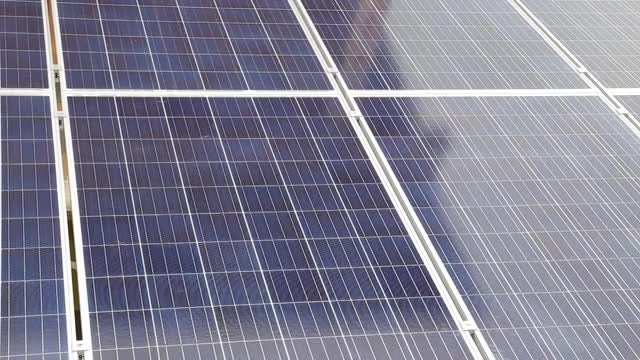 Close Up Shot Of Solar Panels: Stock Video