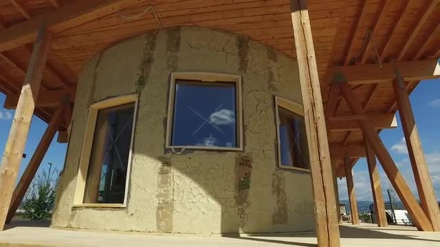 Zero Energy Construction Site: Stock Video