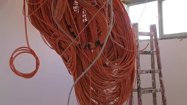 Ceiling Wires Of Unfinished Apartments: Stock Video