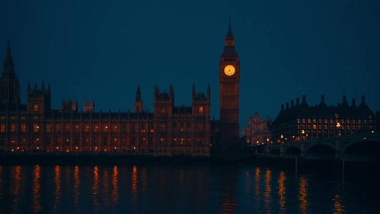 Cinematic View Of Big Ben : Stock Video