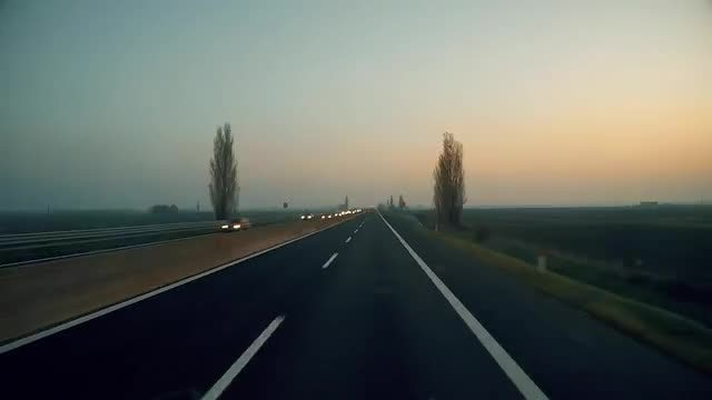 Time Lapse On Highway: Stock Video