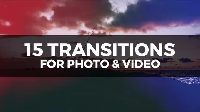 15 Transitions Pack: Premiere Pro Templates