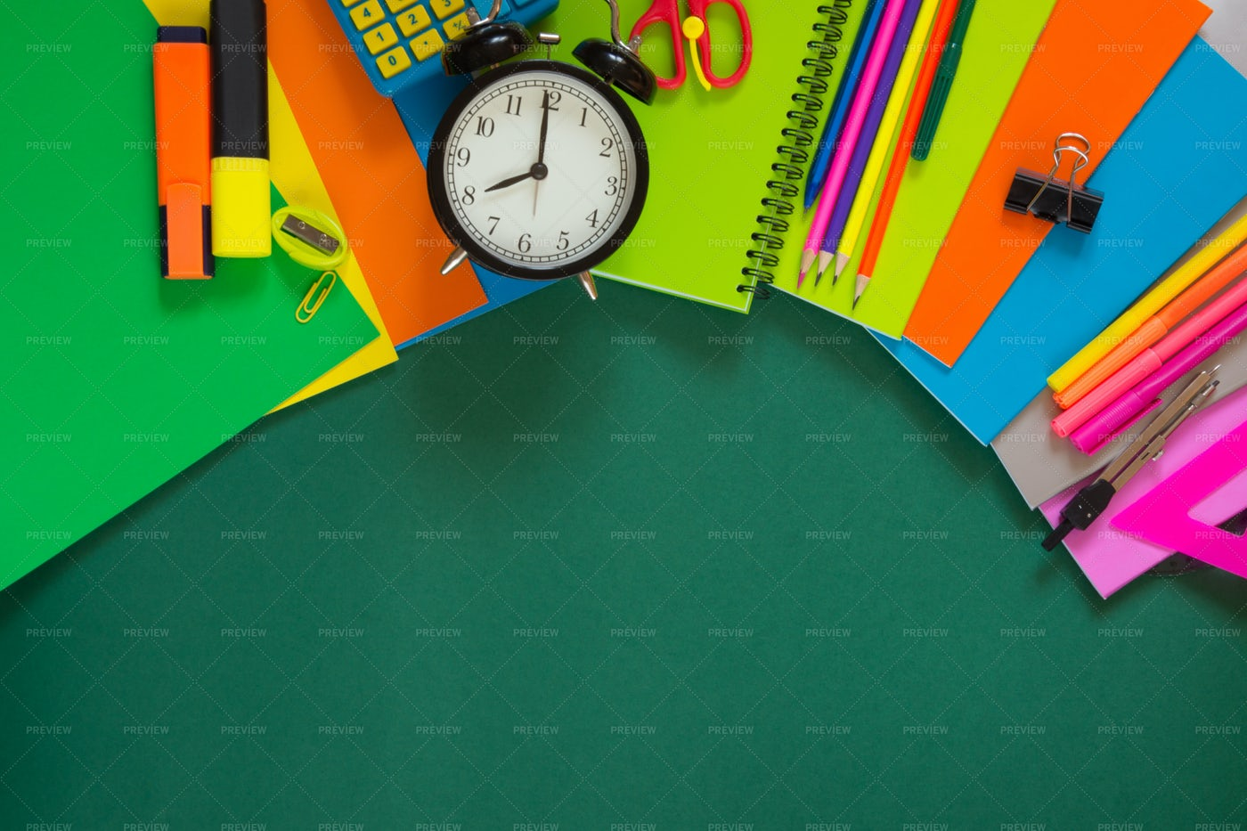 Colorful School Supplies: Stock Photos