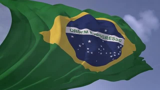 Brazilian Flag: Stock Motion Graphics