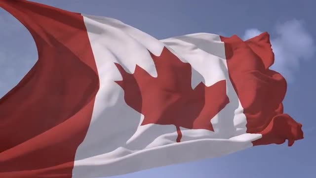 Canadian Flag Waving Slow Motion: Stock Motion Graphics