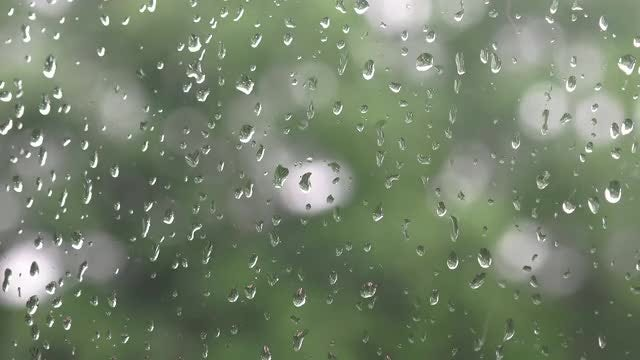 Raindrops On A Window : Stock Video
