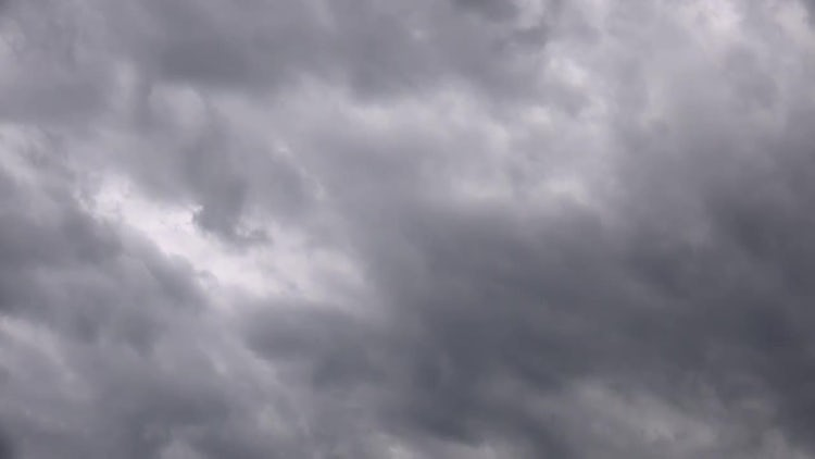 Dark Clouds Cover The Sky: Stock Video