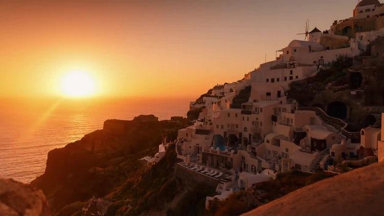 Sunset In Oia, Santorini: Stock Video