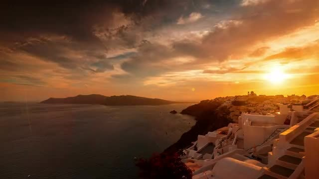 Santorini Caldera Time Lapse : Stock Video