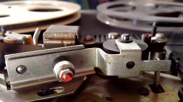 Old Tape Recorder In Action: Stock Video