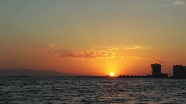 City Beach At Sunset  : Stock Video