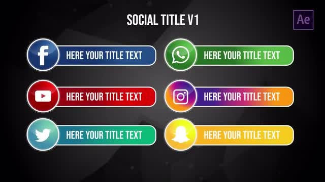 Social Title v1: After Effects Templates