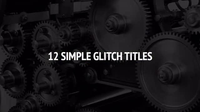 12 Simple Glitch Titles: Premiere Pro Templates