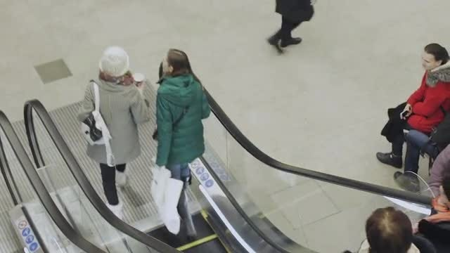 People On An Escalator: Stock Video