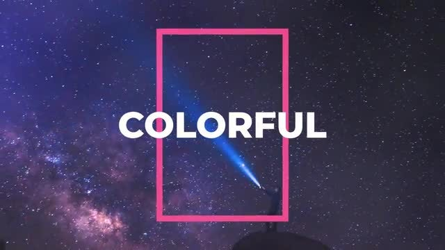 Free Dynamic Colorful Slideshow: After Effects Templates