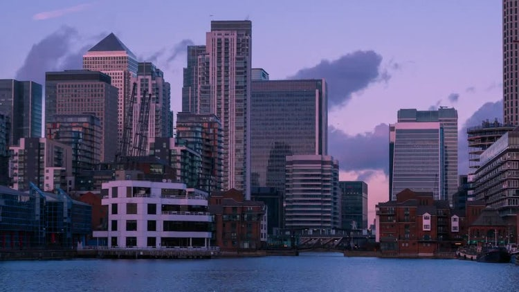 London Docklands Scenic Time Lapse: Stock Video