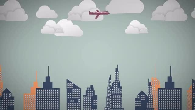 Modern Animated City Background: Stock Motion Graphics