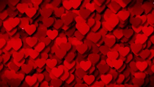 Red Hearts Background: Stock Motion Graphics