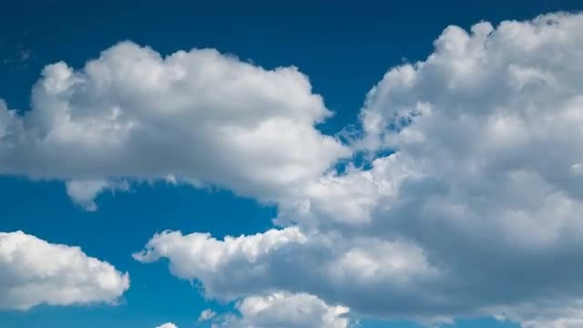 Cumulus Clouds Swirling Underneath Sky: Stock Video