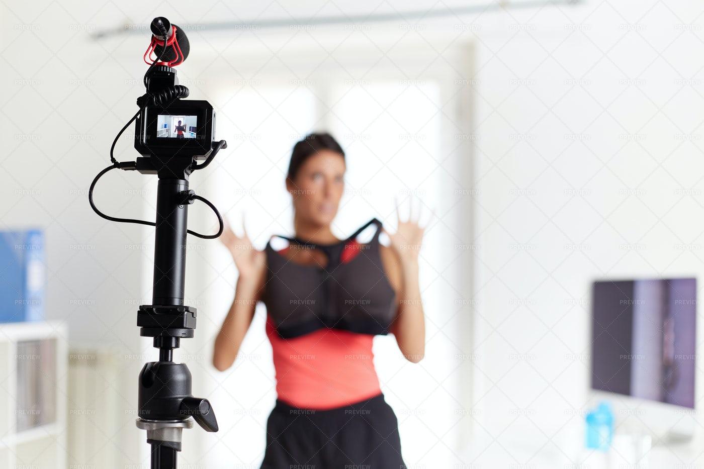 Vlog About New Bra: Stock Photos