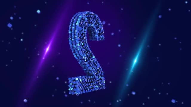 Sparkling Blue Number 2: Stock Motion Graphics