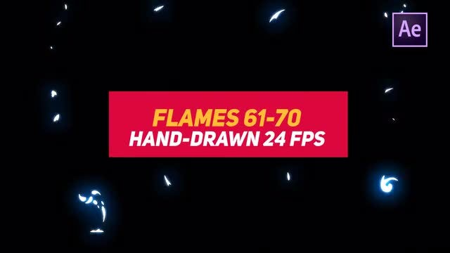 Liquid Elements 2 Flames 61-70: After Effects Templates