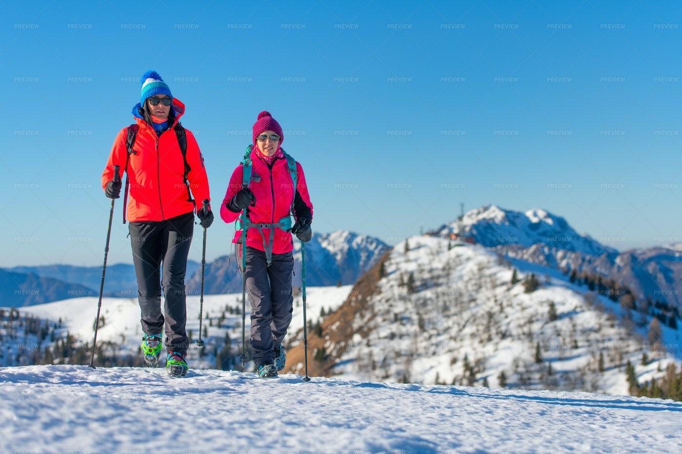 A Snow Hike: Stock Photos