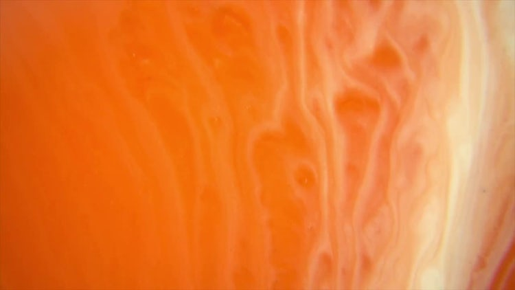 Orange And White Paints Mixing: Stock Video