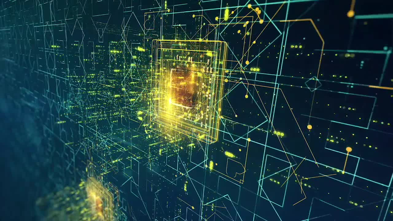 Looping High Tech Chip Pack Stock Motion Graphics