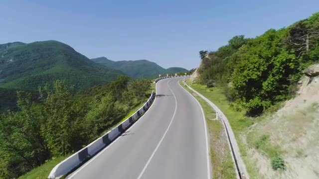 Aerial View Of Mountain Road : Stock Video