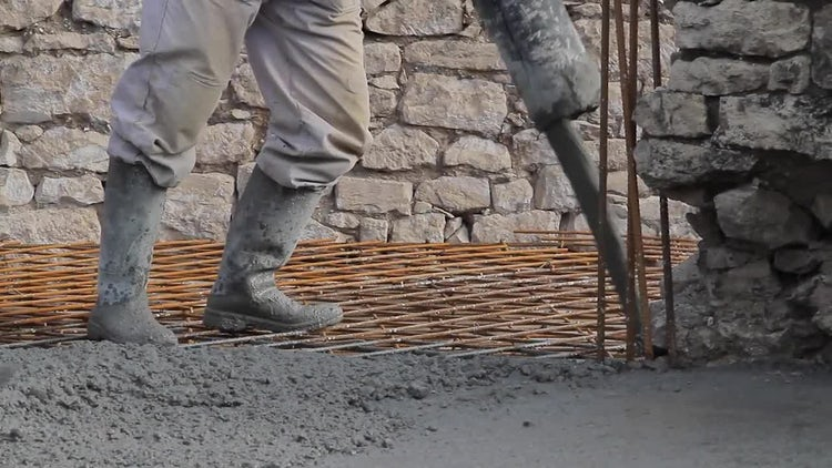 Pouring Concrete : Stock Video