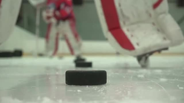 Training of Hockey Players: Stock Video