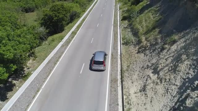 Car On An Open Road: Stock Video