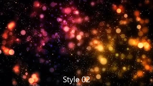 Dark Colorful Bokeh: Stock Motion Graphics