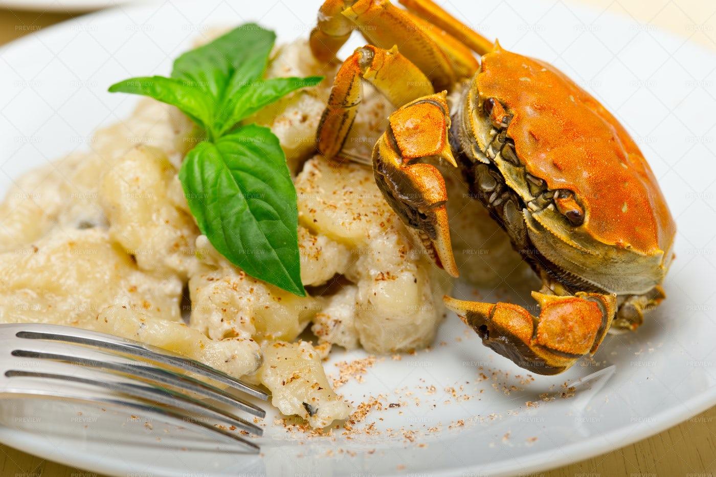 Gnocchi With Seafood Sauce: Stock Photos