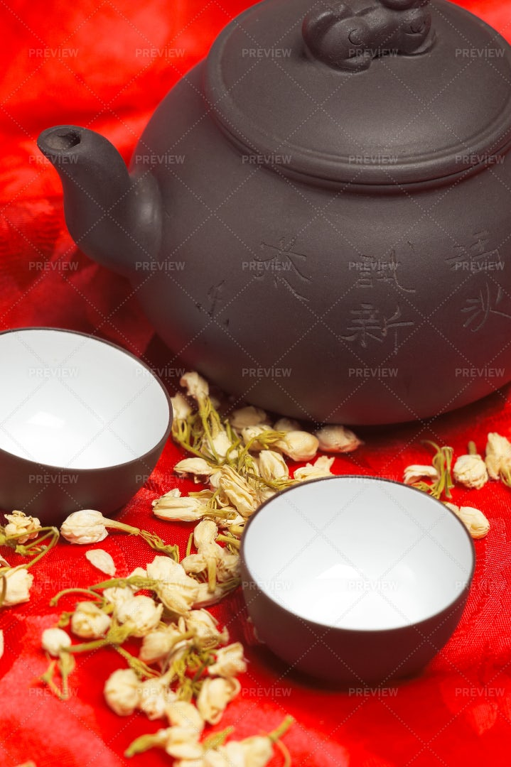 Tea And Pot: Stock Photos