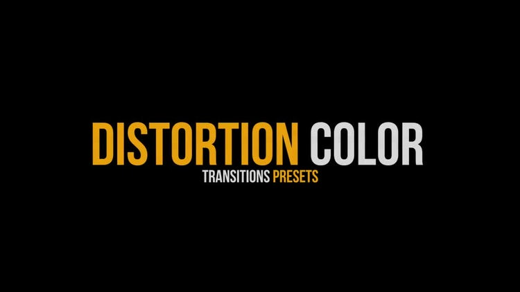 Distortion Color Transitions Presets: Premiere Pro Presets