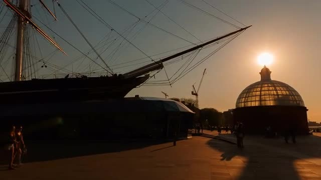 Cutty Sark In Greenwich: Stock Video