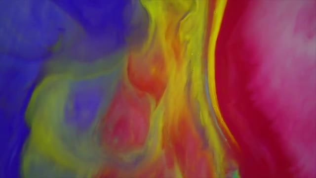 Colored Liquid Paints Blending: Stock Video